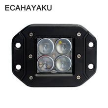 ECAHAYAKU 4D 3 inch 20W LED Light Bar 12V 24V Spot Flood Beam Off-road 4x4 fog driving Work Lamp DRL for Truck Boat ATV SUV Jeep