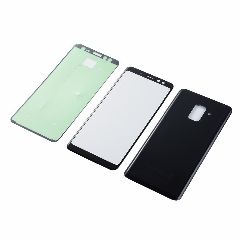 Para Samsung Galaxy A8 2018 A530 A530F A530DS carcasa trasera para batería + Sensor de pantalla táctil LCD pantalla digitalizador cristal + adhesivo