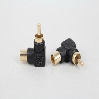RCA adaptador macho a hembra 90 grados RCA conector convertidor Audio RCA AV enchufe extensor