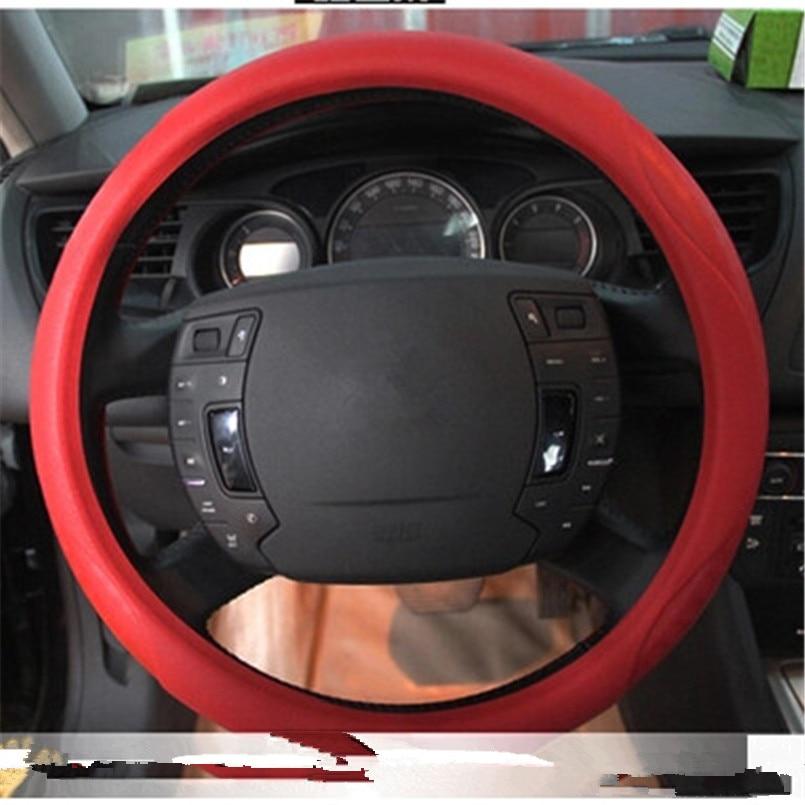 Ladysmtop de silicona protector para volante de coche para Citroen C1 C2 C3 C4 C4L C-Quatre C-triunfo Picasso5 series Elysee DS