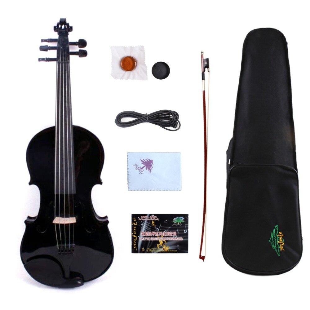 Violín eléctrico de 16 pulgadas 5 cuerdas Viola madera sólida violín profesional con caja de Viola arco negro