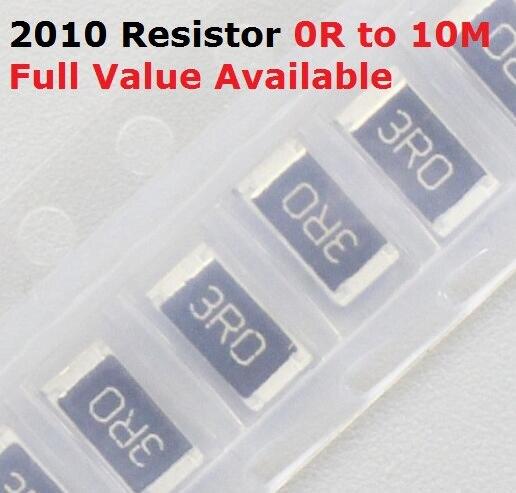 100 шт./лот SMD чип 2010 резистор 0R/1R/1.1R/1.2R/1.3R/ 5% сопротивление 0/1/1.1/1.2/1.3/Ом резисторы 1R1 1R2 1R3 k Бесплатная доставка