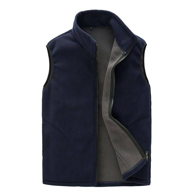 Nuevo chaleco Casual de otoño e invierno para hombre, chaqueta gruesa sin mangas, chaleco, prendas de vestir térmicas suaves, chaleco Polar a prueba de viento para hombre