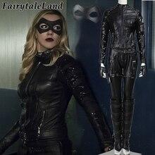Green Arrow Season 4 Black Canary Cosplay Costume adult Women TV Superhero Halloween costumes Black Canary costume Fancy suit