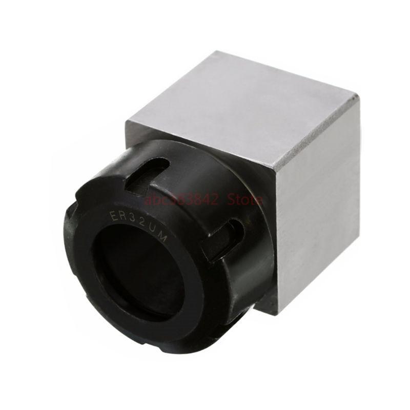 1 Uds cuadrado ER32 ER25 ER40 bloque de mandril de resorte de acero duro ASIENTO DE portabrocas, adecuado para torno CNC máquina de grabado y corte