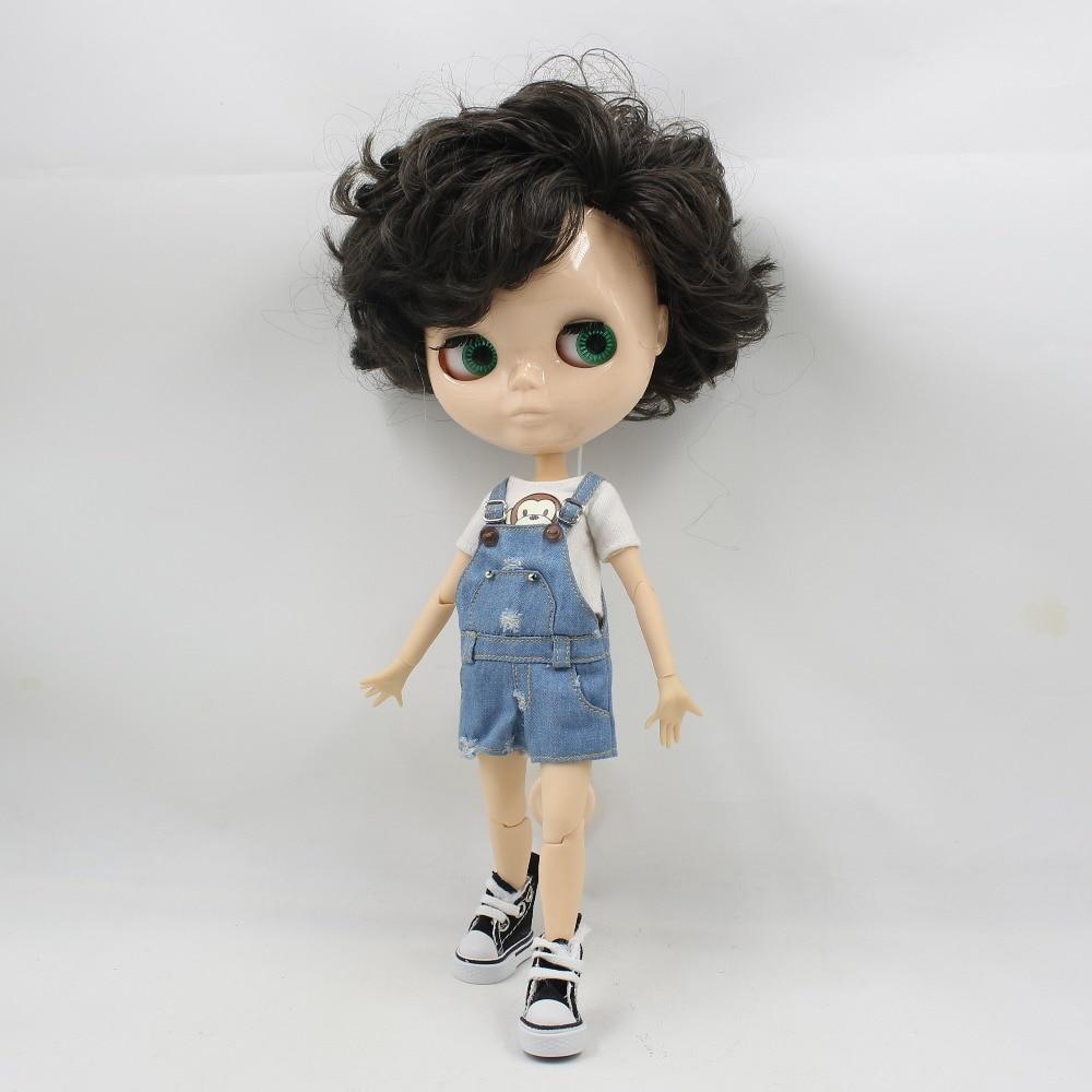 ICY factory blyth doll 1/6 toy boy body bjd piel blanca cara brillante sin maquillaje 30cm muñeca desnuda