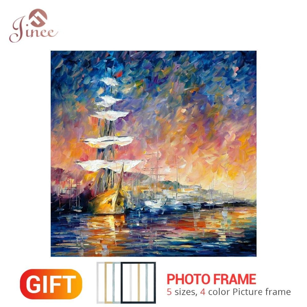 Home Framed 5D Diy Handwork Sets Diamond Painting Sea Boat Cross Stitch Diamond Embroidery Mosaic Paints Room Decor Gift