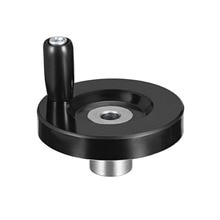 Uxcell 1 Uds. Rueda de Mano Negra con agujero de 63mm de diámetro 8mm diámetro con mango giratorio para fresadora CNC tornos de impresora 3D