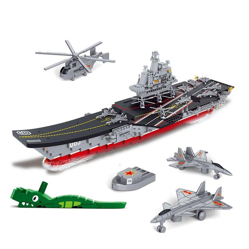 Sluban submarino militar define barco aeronaves portadores de navio de guerra modelo bloco de construção navio 3d construção tijolo presente da criança brinquedos