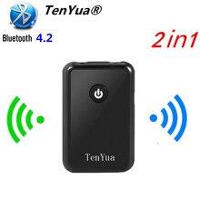 TenYua récepteur émetteur Audio Bluetooth 2 en 1 adaptateur Audio musique stéréo Bluetooth se connecter au haut-parleur/casque pour haut-parleur TV