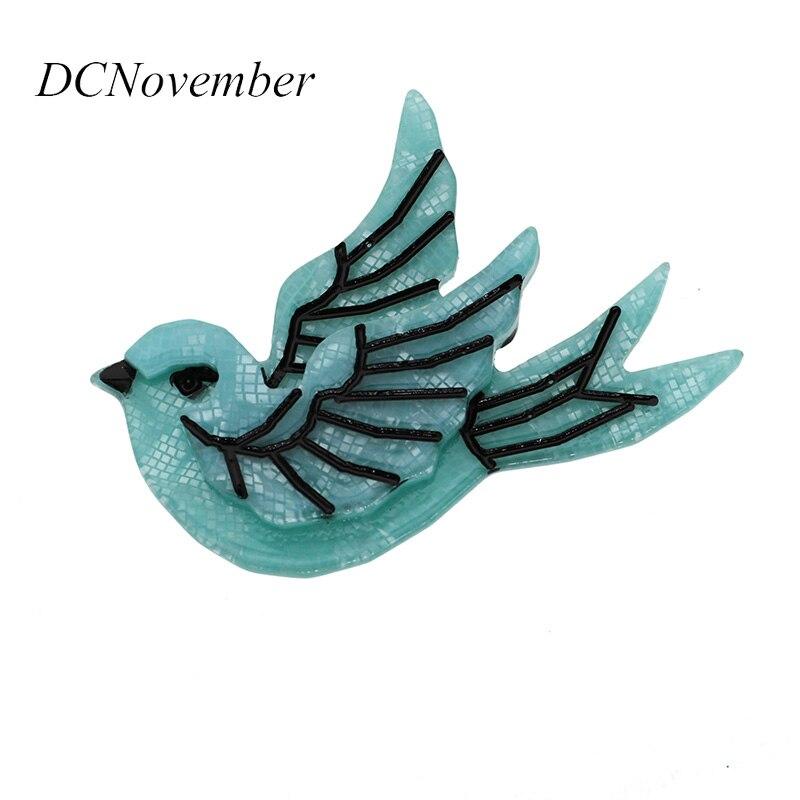 Broches de Sparrow Brid, broche de acrílico para mujeres y hombres, joyería Boutique