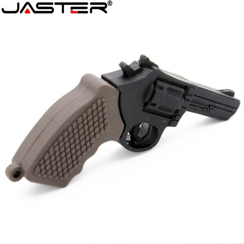 JASTER Pen Drive arma USB Flash Drive 1 GB 2GB 4GB 8GB 16GB 32GB 64GB USB Drive Handgrenade Thumbdrive USB2.0 de dibujos animados AK47 pistola Pendrive