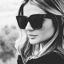 2021 New Top Fashion Brand Designer Cat Eye Women Sunglasses Female Gradient Points Sun Glasses Big