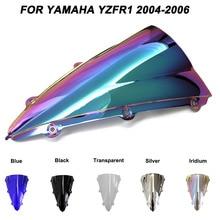 Motorcycle Motorbike Windshield Double Bubble Windscreen Wind Deflectors For Yamaha YZFR1 YZF R1 yzf r1 2004-2006 2004 2006 2005