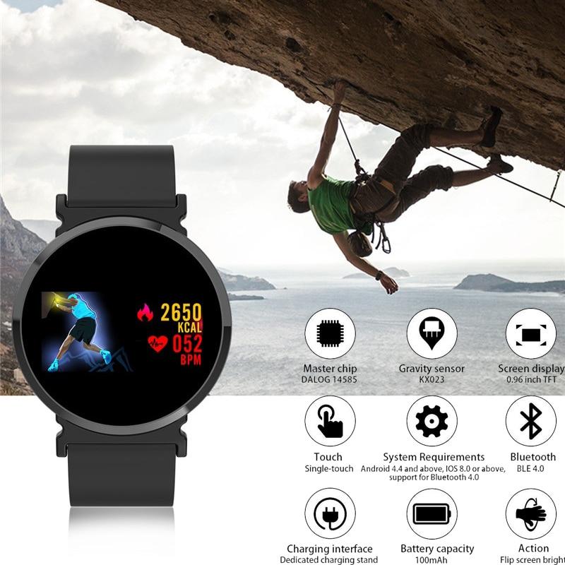 Reloj inteligente con Monitor de ritmo cardíaco para hombre, mujer, pantalla IPS de Color, podómetro, reloj deportivo de calorías, reloj deportivo de presión arterial