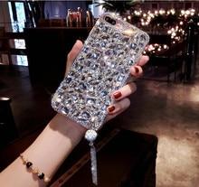 Luxueux 3D Bling bijoux strass cristal diamant étui de téléphone souple pour Huawei Honor P30 P20 Pro 8 9 Lite 9X 7X 8X Mate 30 20