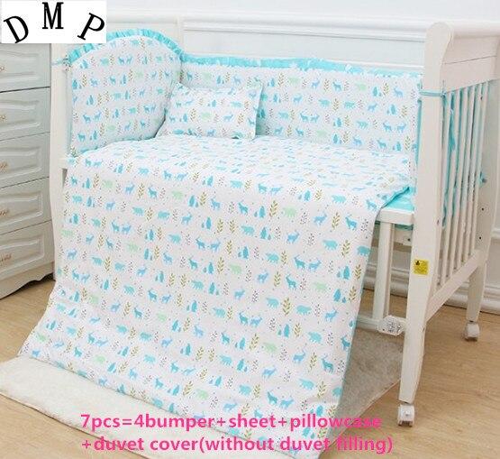 6/7 Uds Juegos de cama de Bebé juego de cama cuna parachoques...