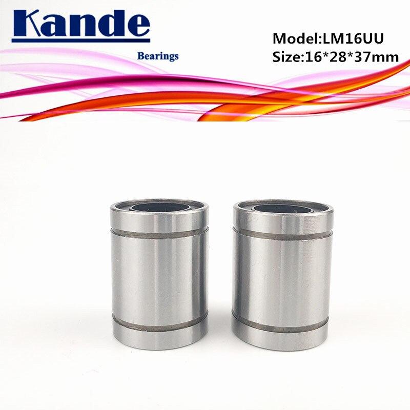 Rodamientos Kande LM16UU 8 Uds LM16UU rodamiento lineal 16x28x37mm LM16 UU rodamiento lineal LM16