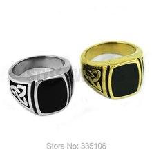 Vente en gros Claddagh Style celtique noeud anneau en acier inoxydable bijoux argent or modèle égyptien moteur Biker hommes anneau SWR0354A