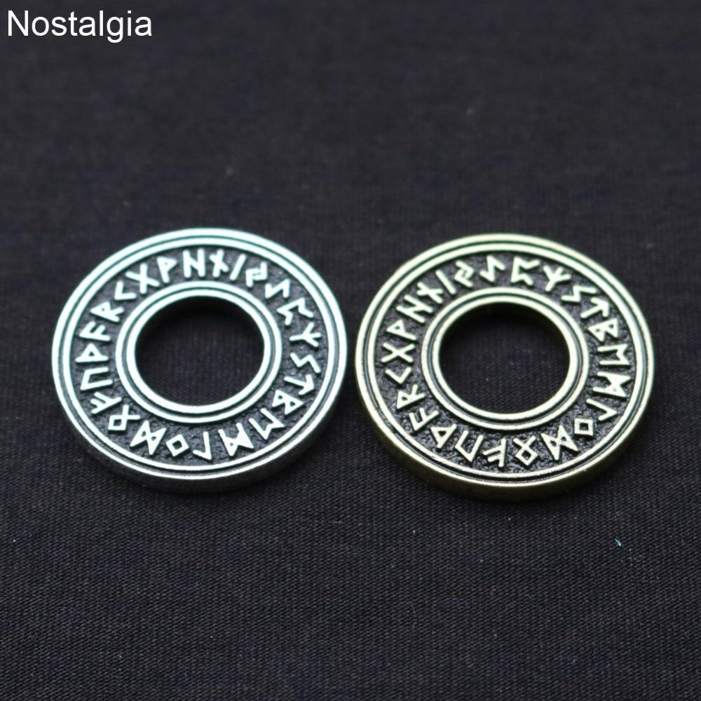 Nostalgia runas vikingas colgante Wicca amuleto pagano joyería Amuletos Y Talismanes estampado...
