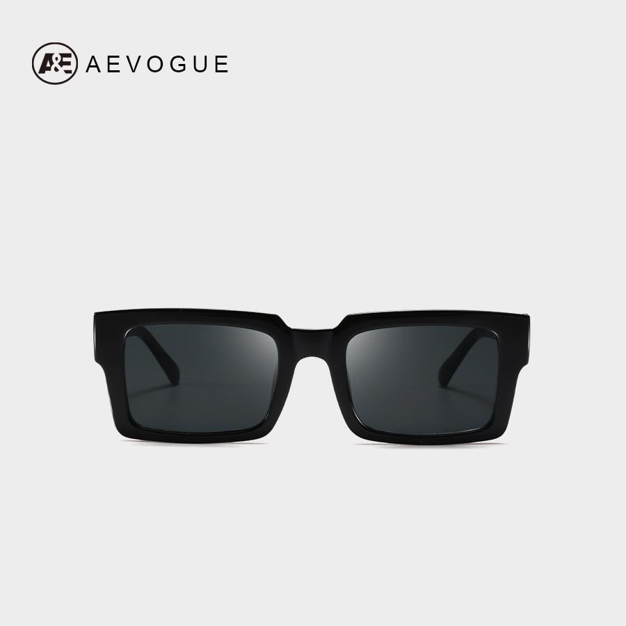AEVOGUE Sunglasses Women Rectangle Frame Transparent Brand Designer Retro Sun Glasses Unisex Square