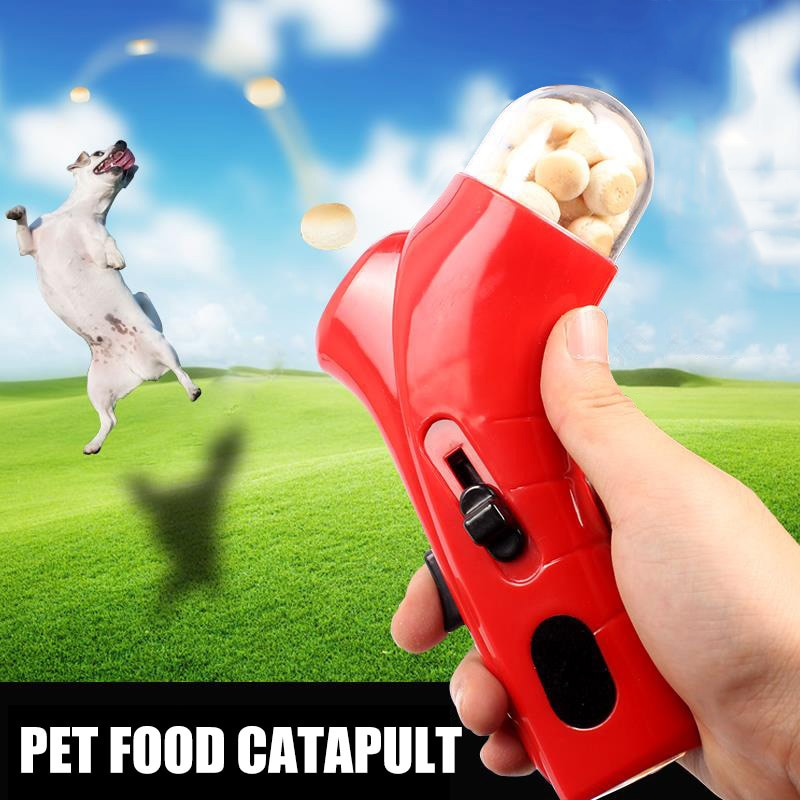 Pet Dog Snack Catapult Treat Launcher игрушка-кормушка игры Обучение can CSV