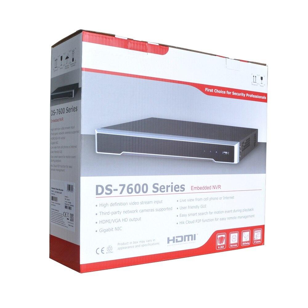 HIK internacional DS-7616NI-K2/16 P 4K NVR para cámara IP CCTV grabador de vídeo en red Onvif apoyo Protocolo