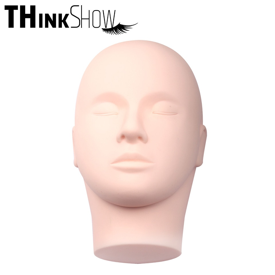 Formação manequim cabeça massagem maquiagem individual extensão da pestana prática modelo chapéus óculos de cabelo display para perucas vitrine