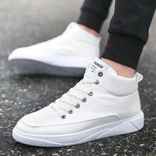 Chaussures hautes 2020 mode confortable hommes chaussures décontractées hommes baskets à lacets formateurs blanc baskets hommes chaussures pour homme