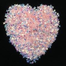 4mm 9000pcs Glitter Star Flake Rainbow Cup Sequins DIY Scrapbooking Wedding Eo-Friendly PET Nail Sequins Art Decoration Material