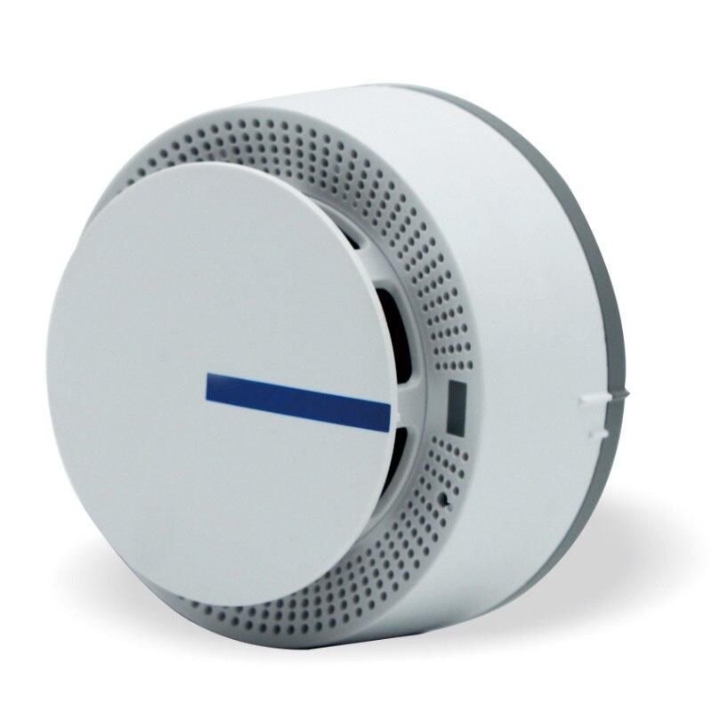 Sensores de alarma estables inalámbricos alimentados por batería protección contra incendios Fácil instalación Detector de humo para sistema de alarma de seguridad en el hogar
