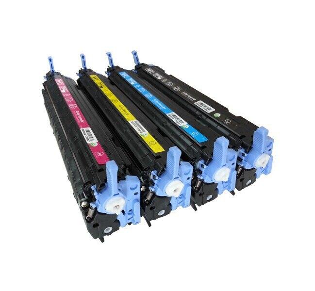 Совместимый для 124A Q6000A Q6001A Q6002A Q6003A (4-Pack) Тонер-картридж для HP Laserjet 1600/2600/2605/1015 серии цветов