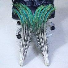 Plume dépée de paon   50 pièces par lot, plume irisée verte naturelle, 58-68cm, côté droit et gauche, livraison gratuite