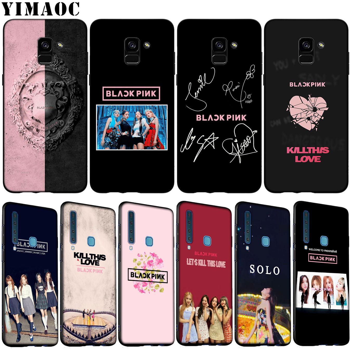 YIMAOC blackpink Kpop suave del teléfono de silicona funda para Samsung Galaxy A6 más A9 A8 A7 2018 A3 A5 2016 NOTA DE 2017 9 8 cubierta