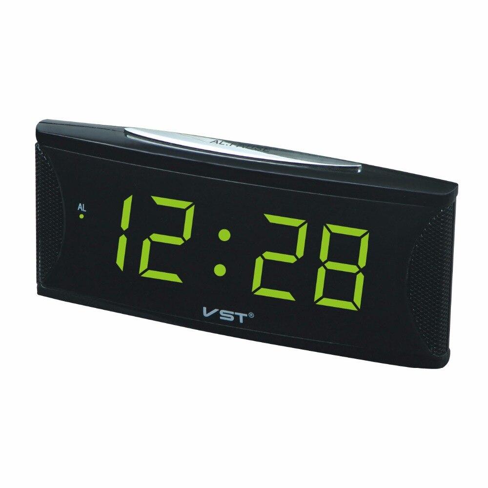 Цифровые светодиодные часы-будильник VST с вилкой европейского стандарта, электронные настольные часы с большим числом, светящиеся часы-буд...