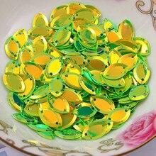 Paillettes ovales amples 6*13mm   1500 pièces, artisanat de couture bricolage, accessoires de vêtement, vente en gros