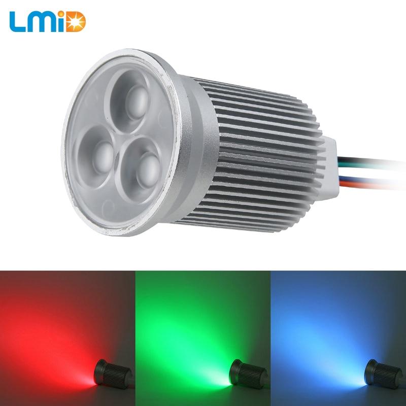 LMID RGB Led Downlight Light  Ceiling Spot Light 9W 3*3W DC12V Ceiling Recessed Lights Indoor Lighting