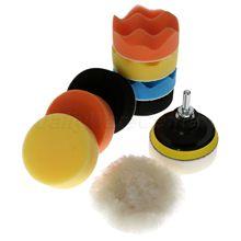 Губка для полировки, набор ручных инструментов для полировки автомобиля, 11 шт., 3 дюйма, 80 мм, M10 M14