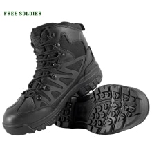 FREE SOLDIER ,Hiking Shoes For Mountain,Shoes For Camping,Climbing Imported Leather Breathable Outdo
