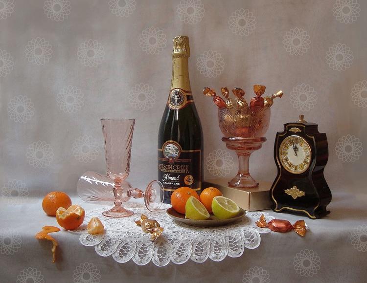 Envío Gratis fotografía limón naranja dulce reloj Naturaleza muerta pintura al óleo lienzo impresiones en lienzo imágenes decorativas