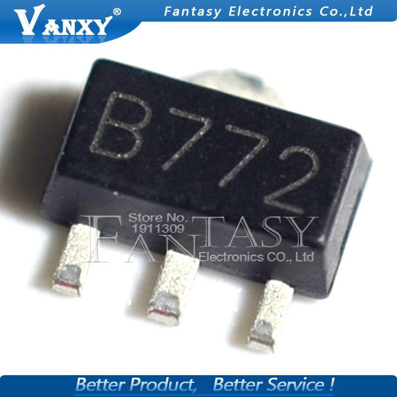 Новый и оригинальный транзистор средней мощности, 20 шт., 2sb 772 SOT89 B772 SMD SOT-89 PNP