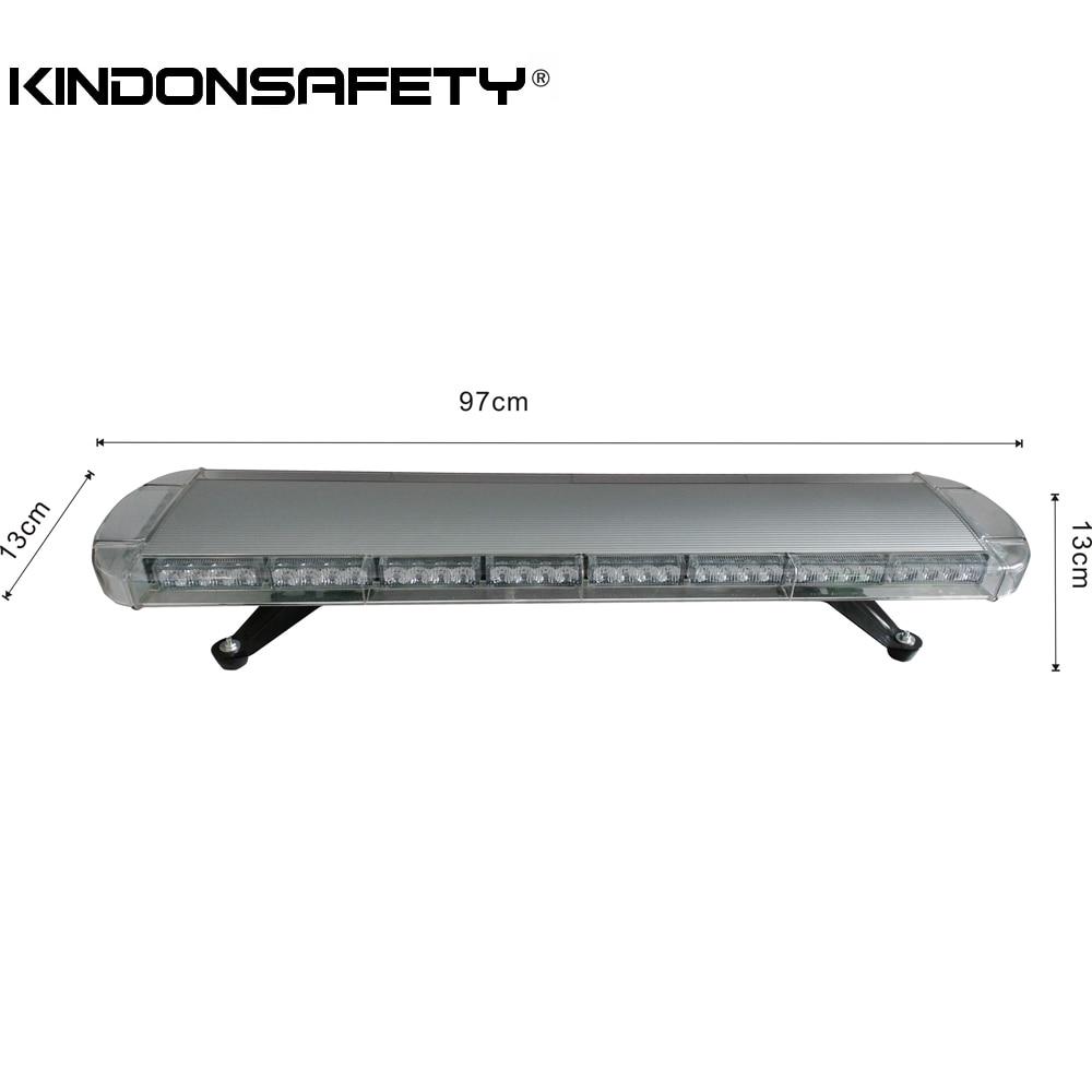 ¡Envío Gratis! 3W luces LED de advertencia estroboscópico barra ligera para camión 12V o 24V 97cm/30 pulgadas 76 Uds LED 228W en total