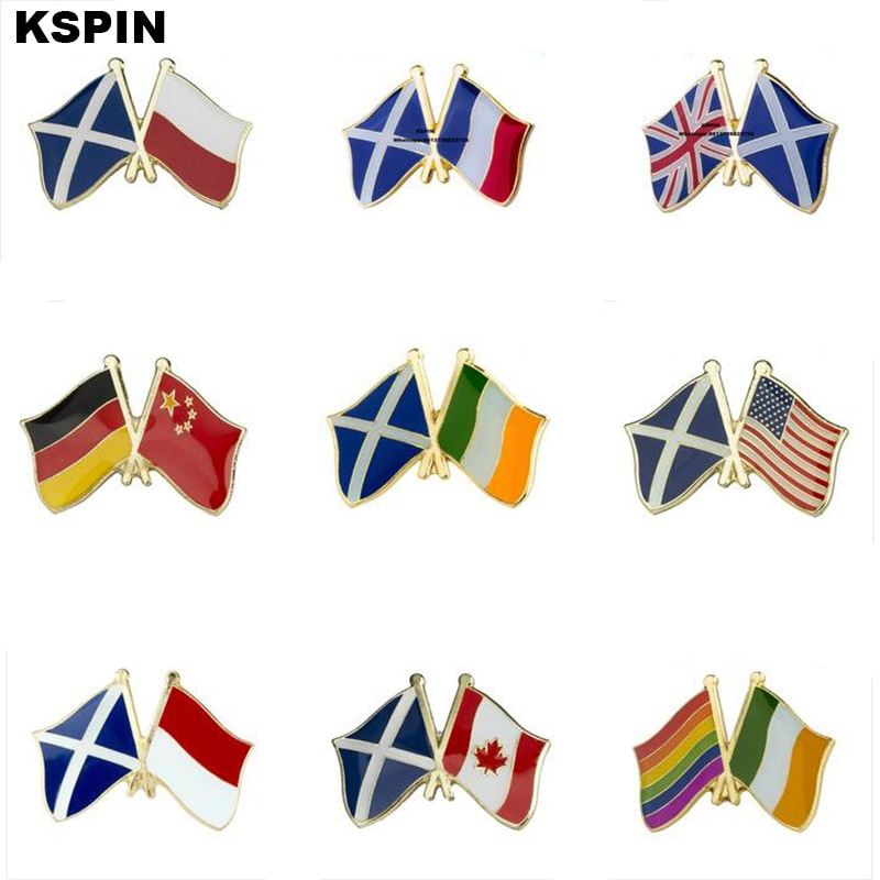Scotland Friendship Banner Badges Metal Pin for Clothes Rozet Makara Replica Coins