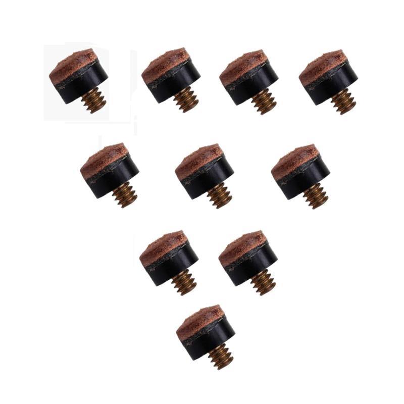 10 unids/set tornillo en puntas de taco para billar palo de billar y taco de billar piezas de repuesto palo herramienta de reparación para Snooker 10mm