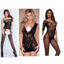 Lingerie Sexy nuisettes lingerie érotique chaude élasticité entrejambe ouverte maille bas de corps porno sexy sous-vêtements costumes pour le sexe