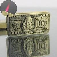 originality 100 dollar drop down type lighter windbreak lighter inflation lighter