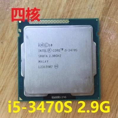 Процессор Intel Core i5 3470S 2,9 GHz 5GT/s 4x256KB L2/6MB L3 Socket 1155 четырехъядерный процессор Бесплатная доставка