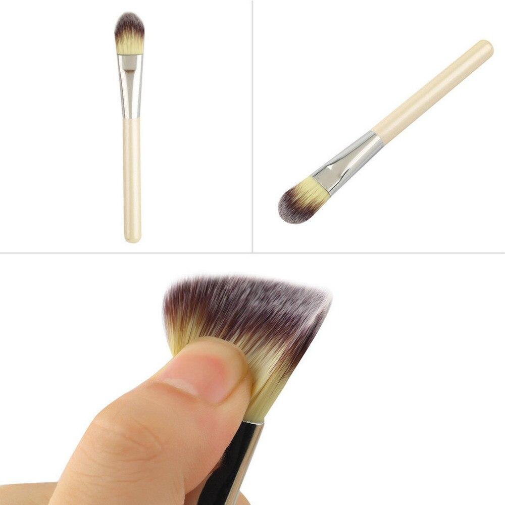 High Quality Hot Professional imitation pearl White Wooden Handle Foundation Brush Make Up Brush