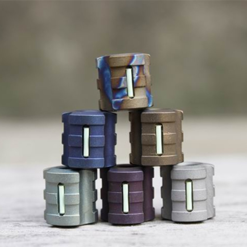 G Titanium Alloy Knife Beads Paracord Can Fits Tritium Gas Tube Knife Lanyard Rope Outdoor Parachute
