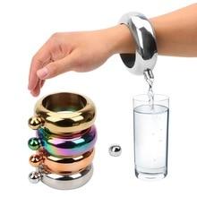 Bracelet élégant bouteille de vin rond Chic hanche flacon Bracelet hanche flacon Drinkware accessoires pour whisky Vodka alcool 3.5 oz